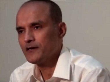 File photo of Kulbhushan Jadhav. News18
