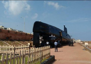 The Kursura that is a submarine museum on Beach Road, Visakhapathnam. Photo procured by Sujan Dutta