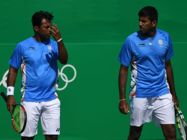 Leander Paes (L) and Rohan Bopanna were earlier named as reserves in the Indian squad. AFP