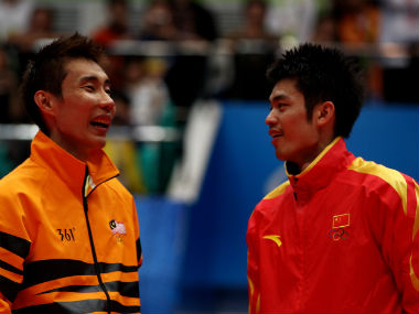 File photo of Lee Chong Wei and Lin Dan. Getty Images