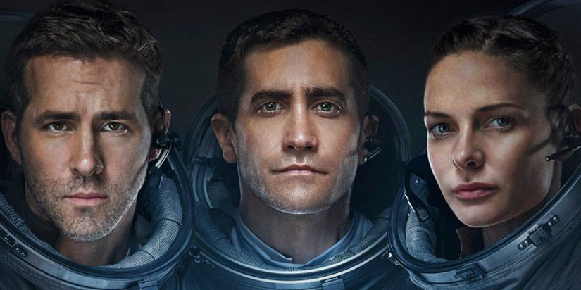 Ryan Reynolds, Jake Gyllenhaal and Rebecca Ferguson in 'Life'