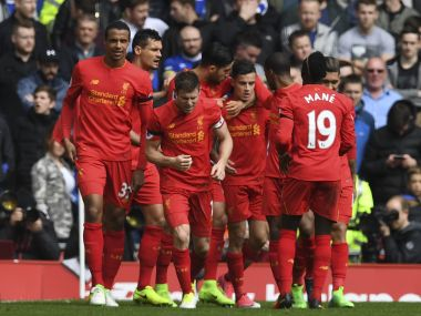 Liverpool moved to second place after a dominant win over Everton in the Merseyside derby. AFP