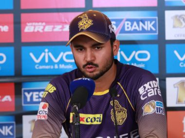 Manish Pandey played a brilliant innings to take KKR to 178 against MI. SportzPics