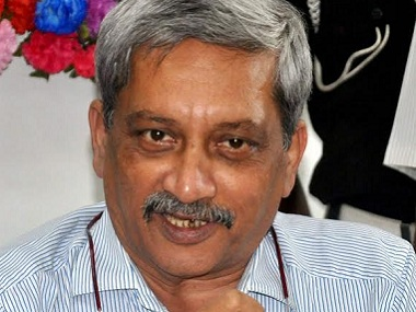 Manohar Parrikar was rushed out of the Defence Ministry by BJP when it realised he has best chance of forming a govt in Goa. PTI file image