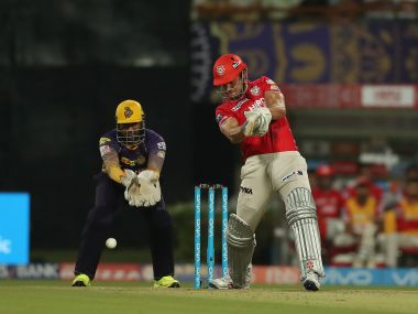 Marcus Stoinis came in to bat at No 3 for Kings XI Punjab against KKR. Sportzpics