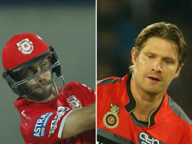 Glenn Maxwell and Shane Watson, captain of Kings XI Punjab and Royal Challengers Bangalore respectively. Sportzpics