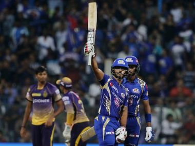 Nitish Rana  and Hardik Pandya were the heroes for Mumbai Indians. Twitter/ @IPL