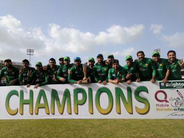 Pakistan rode on Ahmad Shahzad's heroics to complete a memorable series win. Twitter/ @TheRealPCB