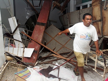 An earthquake hit Philippines in February, killing 30. Reuters
