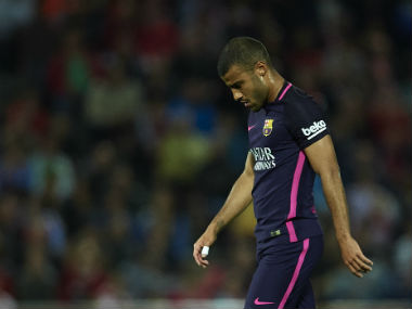 La Liga Barcelonas Rafinha out for four months after undergoing knee surgery