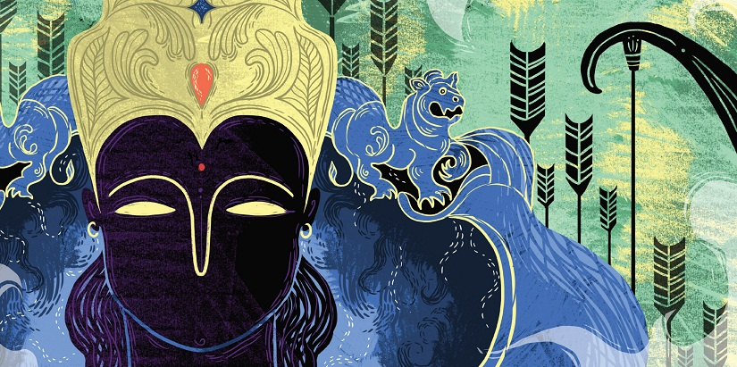 From Arshia Sattar's Ramayana for children, illustrated by Sonali Zohra. Image courtesy: Juggernaut