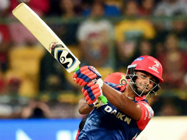 Rishabh Pant put up 57 off 36 balls, including three fours and four sixes. PTI