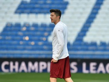 Robert Lewandowski will return for Bayern Munich for the Champions League QF second leg against real Madrid. AFP
