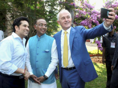Sachin Tendulkar and Malcolm Turnbull join forces to launch India-Australia sports partnership