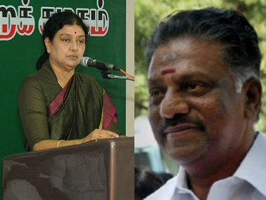 VK Sasikala and O Panneerselvam. Agencies