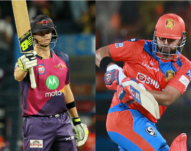 Steve Smith and Suresh Raina, captain of Rising Pune Supergiant and Gujarat Lions respectively. Sportzpics