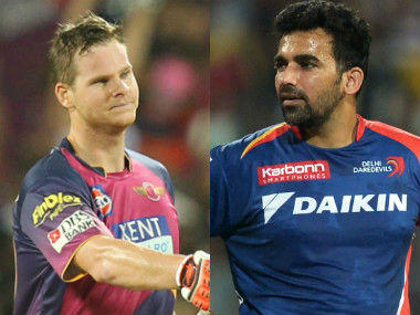 Steve Smith and Zaheer Khan, captain of Rising Pune Supergiant and Delhi Daredevils respectively. Sportzpics