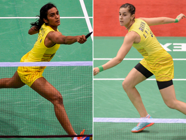 PV Sindhu faces Carolina Marin in the final of the India Open 2017. AFP