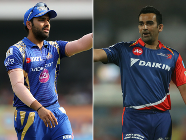 The two captains, Rohit Sharma, left, and Zaheer Khan. Sportzpics