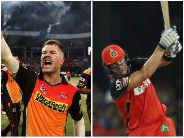 David Warner and Shane Watson, captain of Sunrisers Hyderabad and Royal Challengers Bangalore respectively. Sportzpics