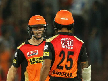 Kane Williamson and Shikhar Dhawan added 136 runs for the second wicket. Sportzpics