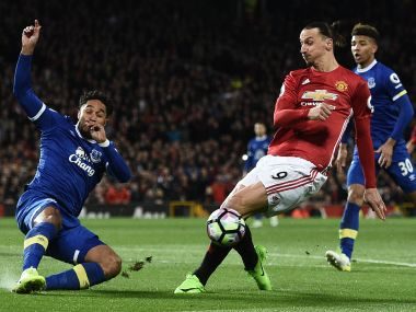Zlatan Ibrahimovic scored a late penalty to earn a point for Manchester United. AFP