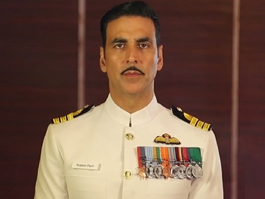 Akshay Kumar in a still from Rustom. Twitter