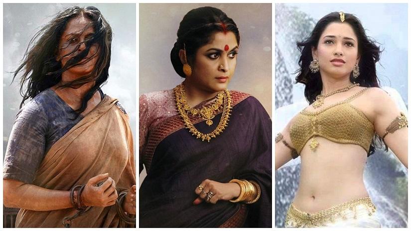 Anushka Shetty as Devasena; Ramya Krishnan as Sivagami; Tamannaah as Avanthika