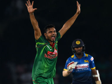 Action from the first ODI between Bangladesh and Sri Lanka. AFP