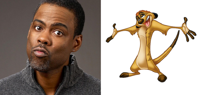 (L-R) Chris Rock, and Timon the meerkat. Image courtesy: Creative Commons.