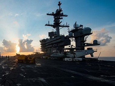 The aircraft carrier USS Carl Vinson (CVN 70) transits the South China Sea. Reuters