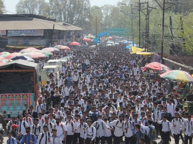 File image of students protesting. Image Courtesy: Eeshan Peer