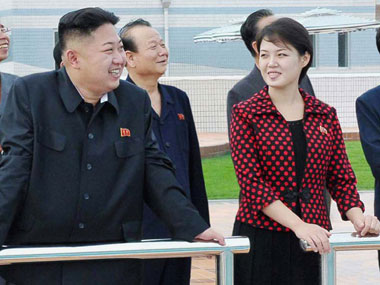 Amid nuclear standoff with US North Koreas Kim Jongun tours cosmetics plant with wife sister
