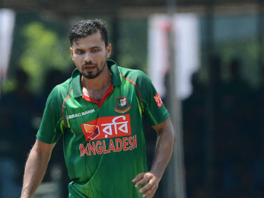 Bangladesh captain Mashrafe Mortaza during the 3rd ODI against Sri Lanka in Colombo. AFP