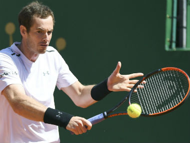 Andy Murray in action against Gilles Muller in the Monte Carlo Masters. AFP