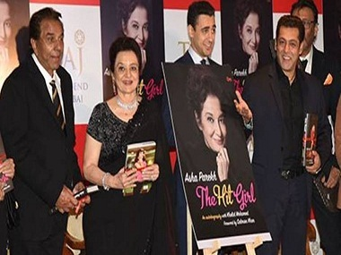 Salman Khan releases Asha Parekh's autobiography The Hit Girl; Helen, Waheed Rahman in attendance