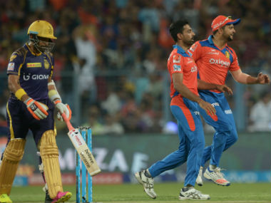 Action from the KKR vs Gujarat Lions match from IPL 2016. AFP