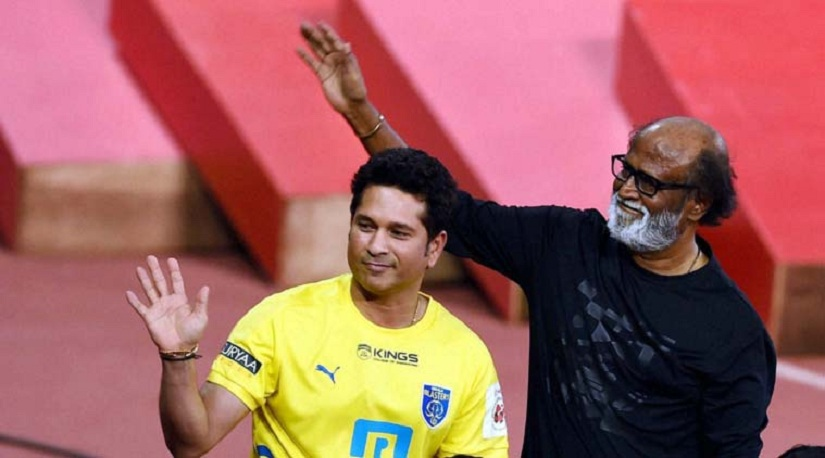 Rajinikanth wishes Sachin Tendulkar best wishes for his film 'Sachin: A Billion Dreams'