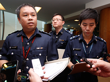 File image of Singapore police. Reuters