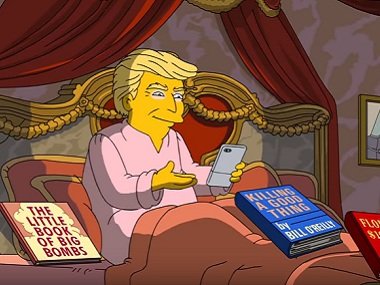 Trump in The Simpsons. Image via Youtube.