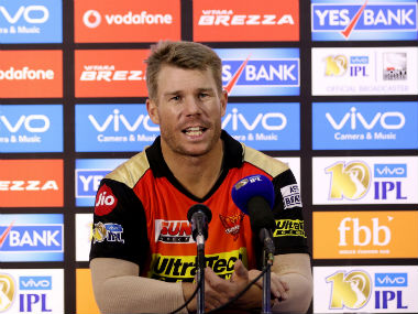 SRH captain talks to the media after the IPL 2017 opener against RCB. Sportzpics