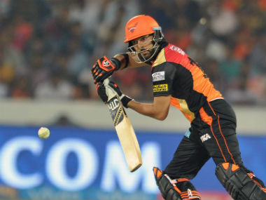 SRH's Yuvraj Singh in action during the IPL 2017 opener against RCB. AFP