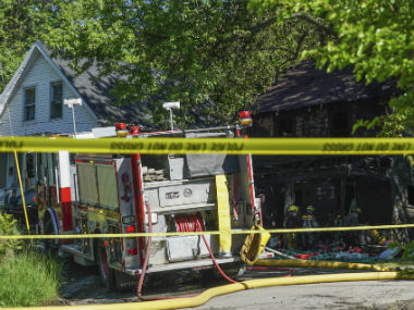 The family dog was also killed in the fire. AP