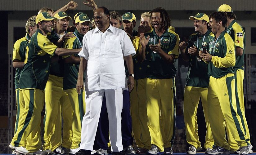 Australia got their hands on the trophy for the first time. Or rather they eventually did once the publicity hungry ICC executive Sharad Pawar left the podium with a bit of help from some of the players. Getty