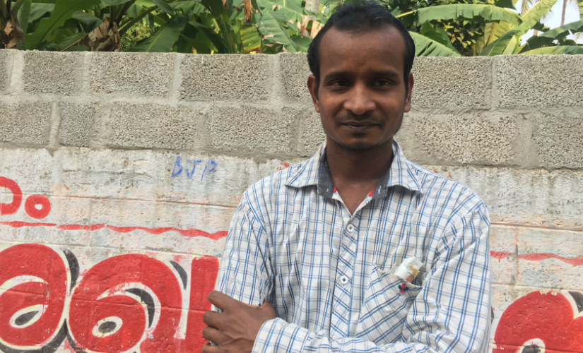 Bhupesh Roy, a migrant from Assam who works in the construction sector in Kerala. Image Courtesy of the author.
