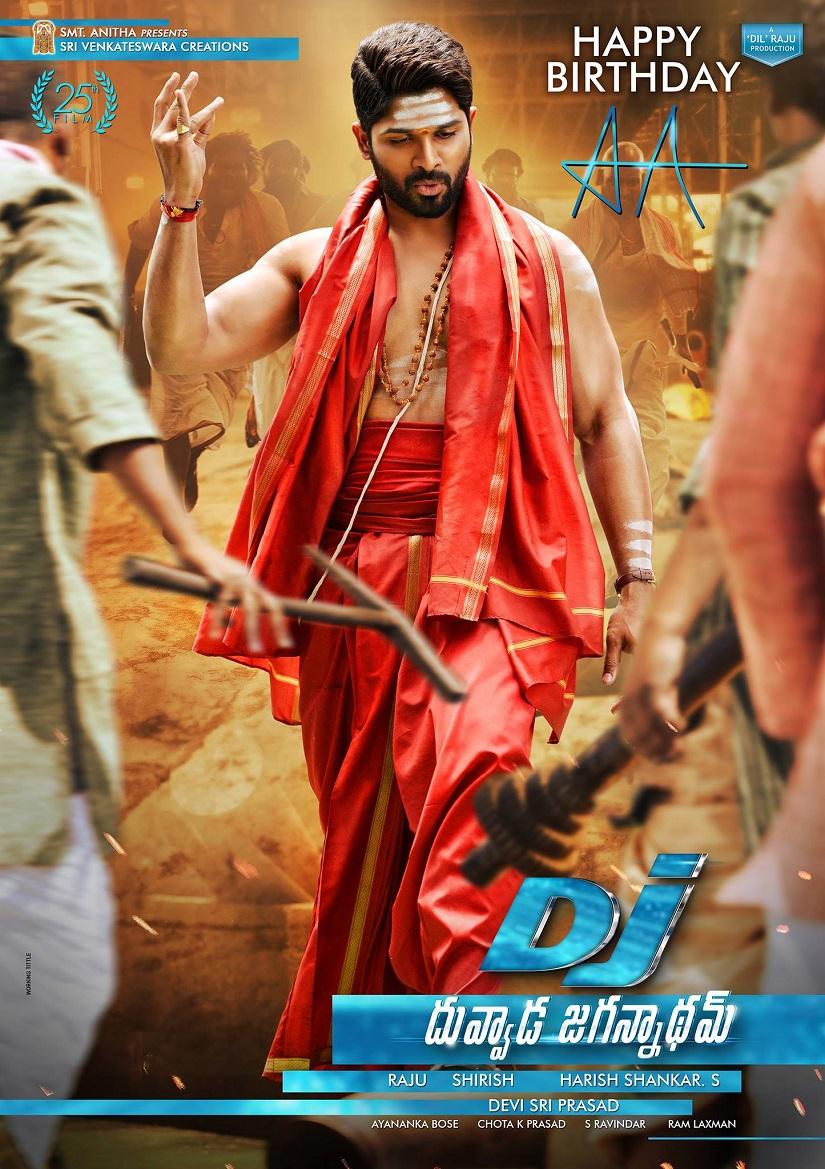 Allu Arjun Duvvada Jagannadham Movie First Look HD Posters WallPapers