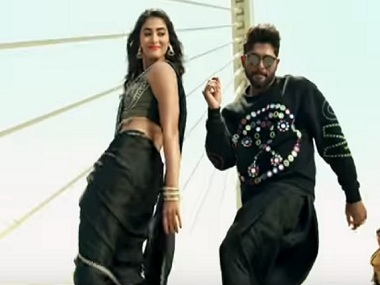Duvvada Jagannadham Allu Arjun Pooja Hegde are the saving grace of this tacky song promo