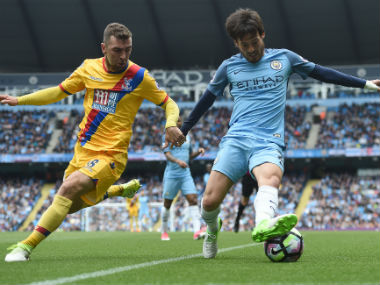 David Silva in action during Manchester City's win over Crystal Palace. AFP