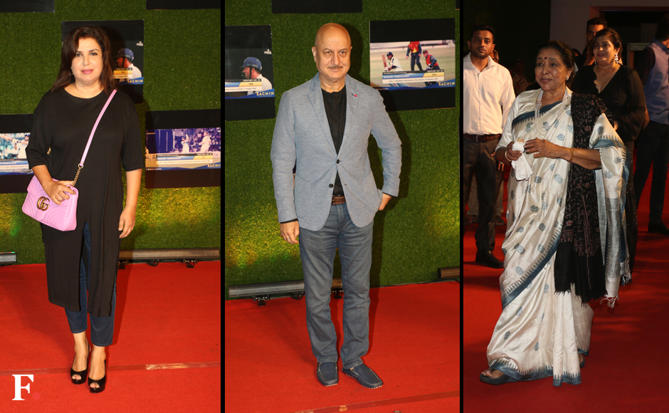 Sachin A Billion Dreams premiere  whos who of Indian cricket and Bollywood spotted