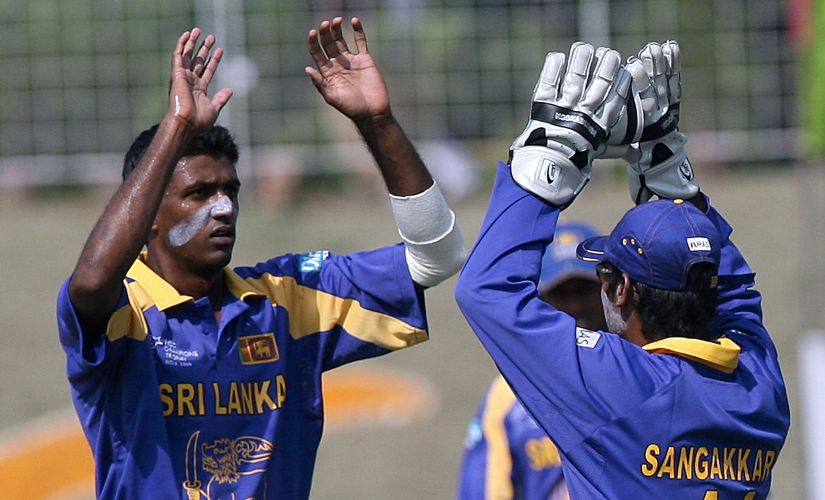 Farveez Maharoof bagged six wickets to take Sri Lanka to an easy win against West Indies ib 2006 Champions Trophy. AFP